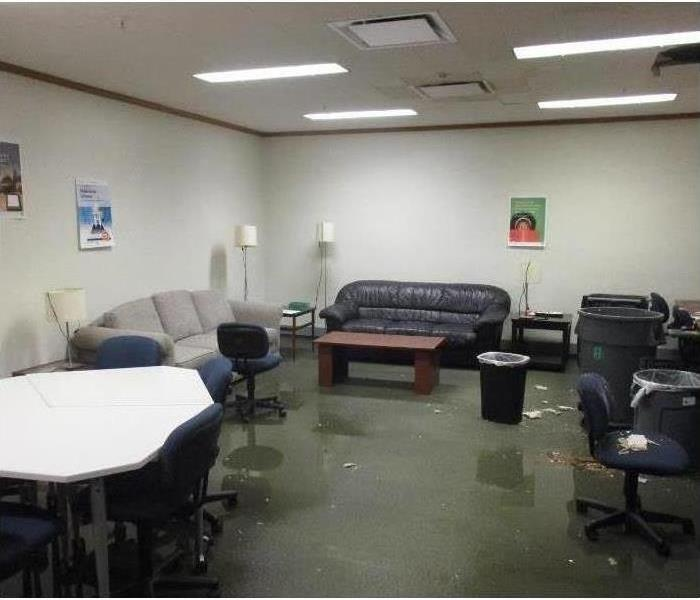 commercial office flooded